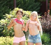 Teen Lesbians Alexis Brill and Angie Koks Don't Disappoint 3