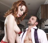 Housewife Lola Gatsby Drains Cum in the Kitchen - Private 12