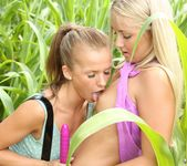 Fucking in The Woods With Lesbians Bella Baby & Cayla Lyons 5