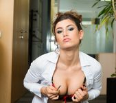 Julia Roca Has Her Hairy Pussy Pounded in the Office 2