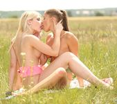Blonde and Brunette Lesbians Cum Together 7