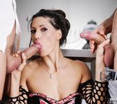 Office Boss Alexa Tomas Gets Dominated By Two Hard Cocks 5