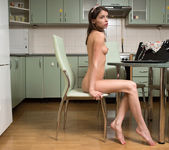 Teeny Jemma getting naked in the kitchen 20