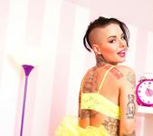 Busty Christy Mack dresses up for Halloween 11