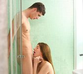 Skinny Teen Elena Gilbert Gets Wet & Wild in the Shower 6