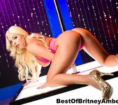 Blonde big titty stripper Britney Amber teases & sucks 7