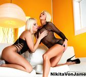 Nikita Von James & Britney Amber fuck each other 8