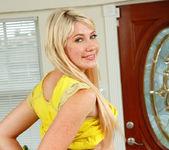 Blonde teen Zelda Morrison takes off her panties 6