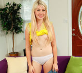 Blonde teen Zelda Morrison takes off her panties 10