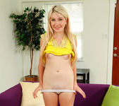 Blonde teen Zelda Morrison takes off her panties 15