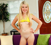 Blonde teen Zelda Morrison takes off her panties 26