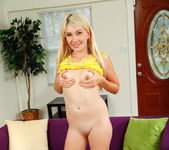 Blonde teen Zelda Morrison takes off her panties 28