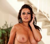 Busty Charley Chase plays with her amazing tits and wet puss 12