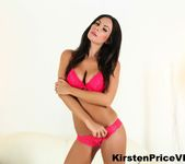 Brunette hottie Kirsten Price shows off her amazing boobs 2