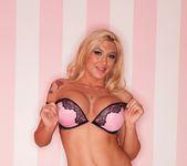 Blonde bombshell Leya Falcon struts her stuff 7