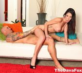 On set impromptu sex with busty brunette Dava Foxx & Derrick 11