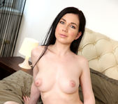 Daphne - cute brunette plugging her pussy 5