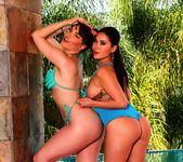 Dana and London play by the pool - Dana DeArmond 8