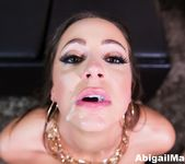 After her date Abigail Mac treats the guy to a blow job! 7