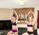 Yoga between special friends 12