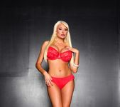 Summer strips out of her red lingerie for you 3