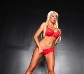 Summer strips out of her red lingerie for you 15