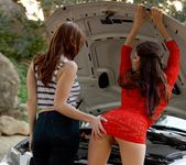 Aspen Rae, Shae Snow - Car Trouble 4