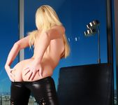 Angela Sommers - Black Leather Pants 3