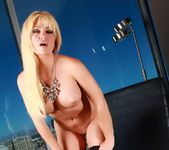 Angela Sommers - Black Leather Pants 4