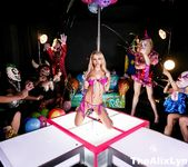 Crazy Clown Strip Club lesbian fucking! - Alix Lynx 4