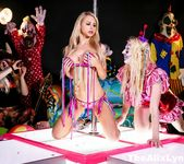 Crazy Clown Strip Club lesbian fucking! - Alix Lynx 5