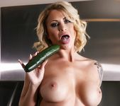 Daisy fucks herself with a cucumber - Daisy Monroe 12