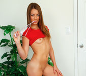 Kirsten Lee takes off her thong 23