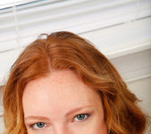 Ginger teen Katy Kiss playing with her dildo 20