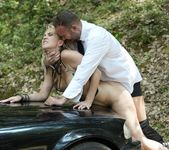 Milf Julia Pink Takes an Anal Creampie in the Forest 2