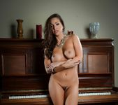 Sexy Abigail makes herself cum all over her piano 4