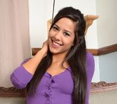 Bella strips out of her purple shirt and panties 2