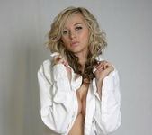 London Hart - White Dress Shirt - SpunkyAngels 2