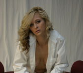 London Hart - White Dress Shirt - SpunkyAngels 4