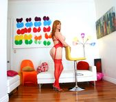Lauren Phillips - Curvy Redhead's Butthole Tricks 13