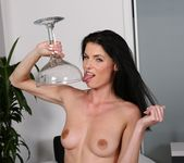 Naughty Eileen loves to play with her golden pee 15