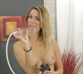 Wet and Puffy - Gorgeous blonde toys her tight ass 8