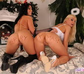 Christmas Anal Threesome with Helena G and Madison Parker 10