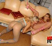 Fishnet Anal Threesome with Niki Montana & Trisha 14