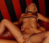 Cherie and Nicole B. Fishnet Anal Threesome 18