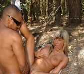 Sandra Parker Outdooors Anal in the Forest 13