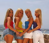 Lesbian Foursome with Sandy, Sophie, Jasmin and Cherry Jul 2