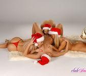 Xmas Lesbian 4some with Sandy, Sophie, Eve & Caroline 9