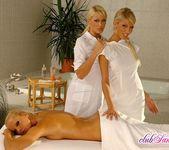 Sandy, Dorina & Clara G. Lesbian Threesome 4