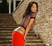 Anetta Keys naked on the stairs 7
